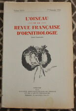 L'OISEAU et la Revue française d'Ornithologie ✤ VoL XXIV / 1er trimestre 1954