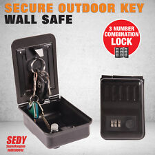 Large Wall Mounted Combination Key Storage Security Lock Outdoor Safe Box Digit