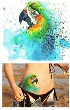 Temporary Tattoo Stickers Body Art Waterproof Green Parrot