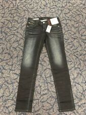 Decree Women's Size 7 Boot Cut Dark Distress Wash Jeans Measure 29X31 AP25