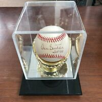 Don Sutton Autograph Baseball Hof 98 Cert National League w/ display case