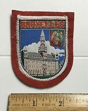 Bruxelles Brussels Town Hall Belgium Souvenir Red Felt Woven Patch Badge