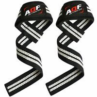 AQF Padded Weight Lifting Training Gym Straps Hand Bar Wrist Support Gloves Wrap