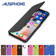 iPhone X 8 7 6 6S Plus 5S Ultra Slim Magnetic Flip Leather Case Cover for Apple