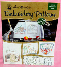 Aunt Marthas Great Outdoors Iron On Embroidery Patterns Book Fish Hunting Bear