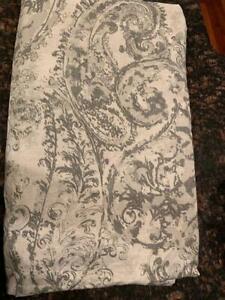 Pottery Barn King Jaylinn Paisley Duvet Cover Gray NEW