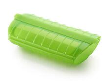 Estuche de Vapor Lekue con Bandeja para 1 o 2 personas Verde Silicona Vaporera