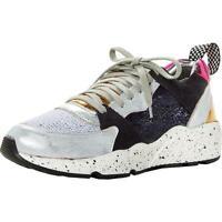 P448 Womens Alex Navy Leather Fashion Sneakers Shoes 38 Medium (B,M) BHFO 2778