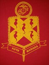 1980's Vintage 5th Marines Shirt - Sleeveless Lrg - USMC Marine Core