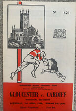 More details for gloucester v cardiff rugby union 1967