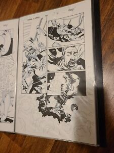 Deadpool Kills the Marvel Universe Original Comic Art Page 15 Issue # 1