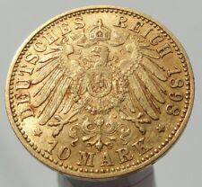 ORIGINAL PRUSSIA PREUSSEN WILHELM II GOLD 10 MARK 1898 A KAISERREICH
