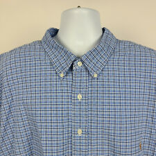 Ralph Lauren Blue Check Oxford Mens Dress Button Shirt Size 5XB 5XL Big