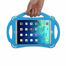 iPad Mini 4 Case Silicone, Handle, Stand, Strap, For Kids, Blue, NOB