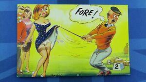 Saucy Bamforth Comic Postcard 1960's Boobs Nylons Stockings Panties Golf FORE