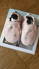 New Robeez Pixie pink leather soft sole shoes, 6-12 mo,NIB