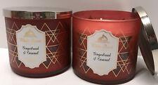 Bath & Body Works Gingerbread & Caramel 14.5 Oz 3 Wick Large Candle X2