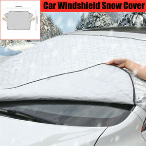 Universal Car SUV Windshield Snow Cover with 2 Layer Protection Dust Frost Guard