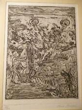 MACCARI - CIARROCCHI - OMICCIOLI 6 opere  acquaforte litografia grafica arte