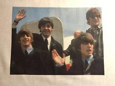 "1 Beatles Quilt Block  Waving Airplane "" Sewing Square John Paul George Ringo"