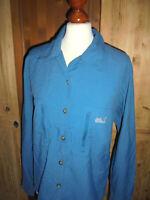 JACK WOLFSKIN Hemd outdoor Damen Regen Freizeithemd blau oldschool vintage Gr.XL