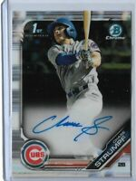 2019 Bowman Draft Baseball Chase Strumpf Base auto 1st bowman Chicago cubs