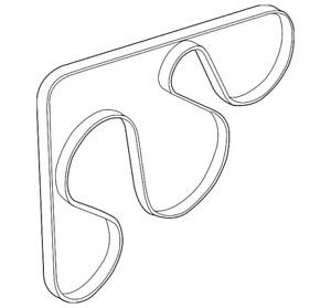 Genuine Kia Serpentine Belt 25212-2E820