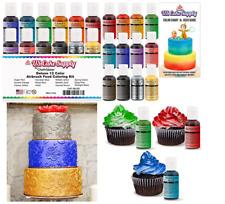 12 Pack Colors Kit Cake Decorating FDA Supplies Airbrush Making Baking Kids Gift