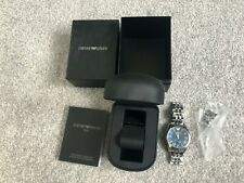 Emporio Armani AR1789 Quartz  Mens Stainless Steel Chronograph Watch Boxed