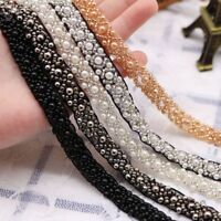 Pearl Ribbon Beads Lace Trim Wedding Dress Decor DIY Sewing Accessories AU