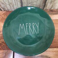 "Rae Dunn Green MERRY 11"" Dinner plates set Of 6"