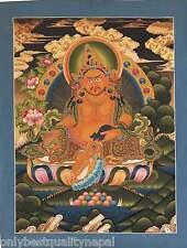 Thangka dzambhala Lotus Vajra Buddhism jambhala altar arte budismo Buda