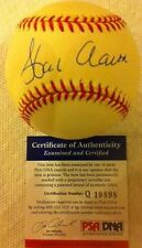1 Hank Aaron Autographed Signed Baseball PSA/DNA COA (HA5)