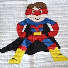 AUTHENTIC KIDS Superheroes SUPER HERO Man Red Blue White TWIN Quilt