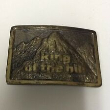 Vintage King Of The Hill Mountains 1982 Westinghouse Solid Brass Belt Buckle