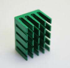 10pc x 14*19*11mm Aluminum Mini Green Heat Sink Chip for IC LED Power Transistor