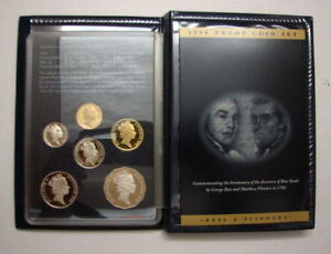 1998 RAM Proof 6 Coin Year Set - Bass & Flinders Featuring Commemorative .50c