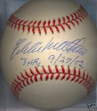 Eddie Mathews 3 HRs Boston Braves ONL HOF Signed Ball