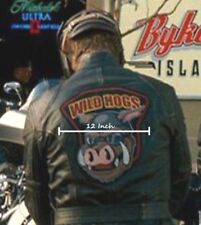 """AS SEEN in MOVIE WILDHOG WILD HOGS 12"""" X 12"""" Large PATCH for LEATHER JACKET BACK"""