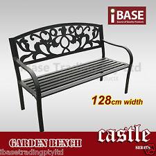 ALU STEEL Bench Outdoor Garden Patio Park Chair Seat Vintage Aluminium Black New