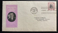 1938 Washington DC USA First Day Cover FDC Woodrow Wilson President