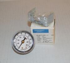 "Ashcroft Pressure Gauge, Panel Mount, 100 psi, 1/4"" NPT, 2"", 20W1001TH-02B-XUC"