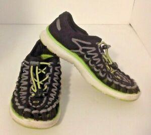 Kid's Keen Uneek 02 Sandals Sz 2 Black Neon Green Sneakers Hiking Outdoor Shoes