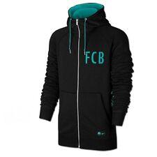 New $90 Nike Mens Barcelona Full Zip Hoodie 810291 014 Black Teal Size 2XL