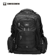 Swisswin 17 inch Men's Laptop Backpack Waterproof Nylon Notebook Computer Bag