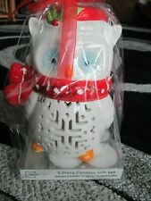 Mainstays 5 Piece Ceramic Gift Set Christmas Owl