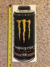 "Monster Energy Dub Edition Logo Can 11"" Sticker Decal Sponsor Sheet Kit"