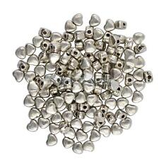 50 Tibetan Silver Heart Shape Bead Spacers Jewellery Findings 4mm X 3mm X 3mm