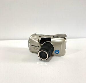 Olympus MJU II Zoom 80 All-Weather Camera Battery + Film Tested