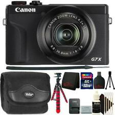 Canon PowerShot G7 X Mark III Digital Camera Black Top Accessory Bundle